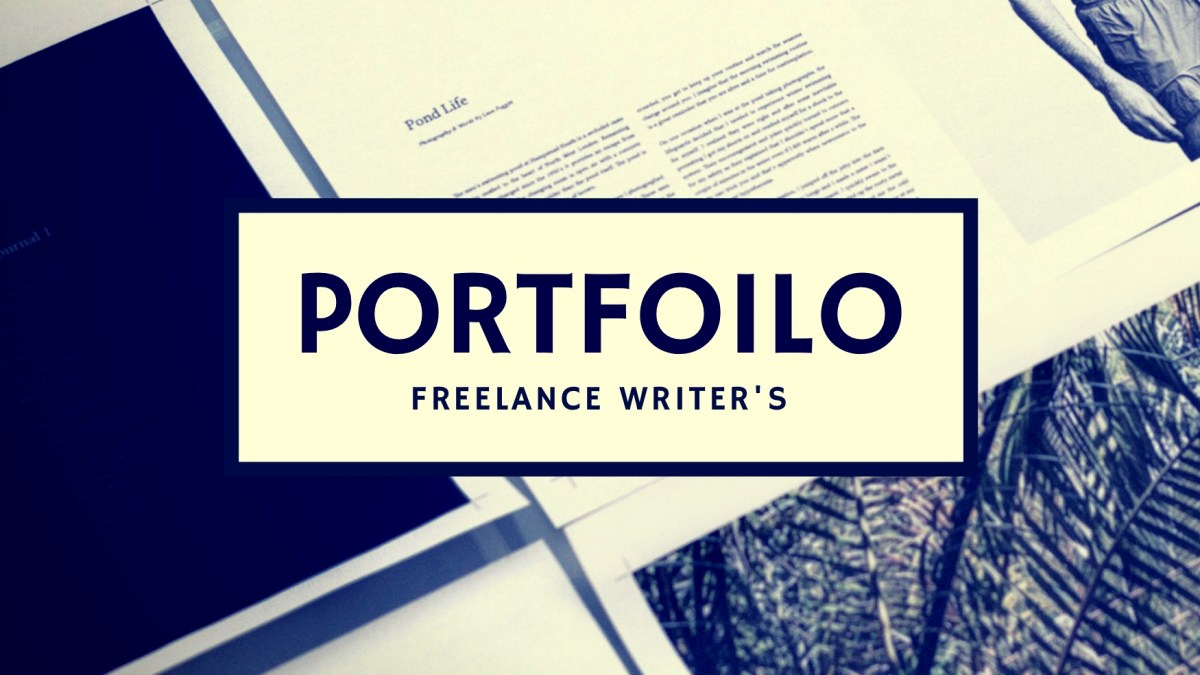 Showcase Your Writing: building an online writing portfolio
